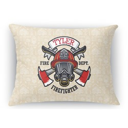 Firefighter Rectangular Throw Pillow Case (Personalized)