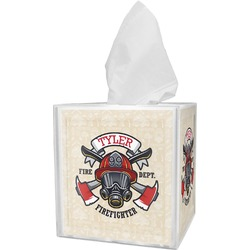 Firefighter Tissue Box Cover (Personalized)