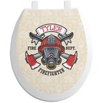 Firefighter Toilet Seat Decal (Personalized)