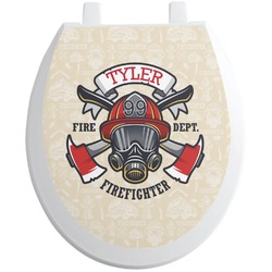 Firefighter Toilet Seat Decal - Round (Personalized)