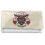 Firefighter Vinyl Checkbook Cover (Personalized)