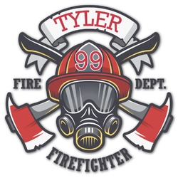 Firefighter Graphic Decal - Medium (Personalized)