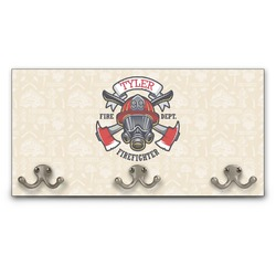 Firefighter Wall Mounted Coat Rack (Personalized)