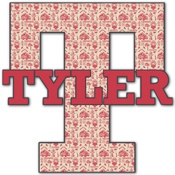 """Firefighter Name & Initial Decal - Up to 18""""x18"""" (Personalized)"""