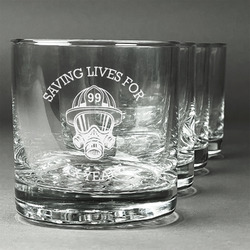 Firefighter Whiskey Glasses (Set of 4) (Personalized)