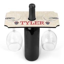 Firefighter Wine Bottle & Glass Holder (Personalized)