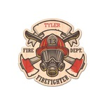 Firefighter Career Genuine Wood Sticker (Personalized)