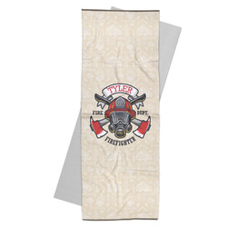 Firefighter Yoga Mat Towel (Personalized)