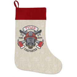 Firefighter Holiday Stocking w/ Name or Text
