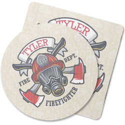 Firefighter Rubber Backed Coaster (Personalized)