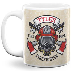 Firefighter 11 Oz Coffee Mug - White (Personalized)
