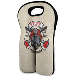 Firefighter Wine Tote Bag (2 Bottles) (Personalized)
