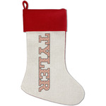 Firefighter Red Linen Stocking (Personalized)