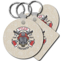 Firefighter Plastic Keychains (Personalized)