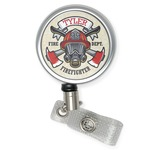 Firefighter Retractable Badge Reel (Personalized)