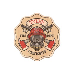Firefighter Genuine Maple or Cherry Wood Sticker (Personalized)