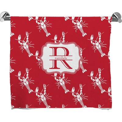 Crawfish Bath Towel (Personalized)