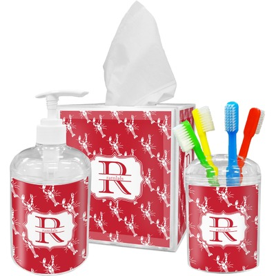Crawfish Acrylic Bathroom Accessories Set w/ Name and Initial