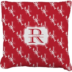 """Crawfish Faux-Linen Throw Pillow 26"""" (Personalized)"""