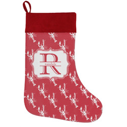 Crawfish Holiday Stocking w/ Name and Initial
