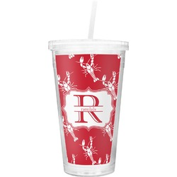 Crawfish Double Wall Tumbler with Straw (Personalized)