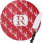 Crawfish Round Glass Cutting Board (Personalized)