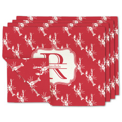 Crawfish Linen Placemat w/ Name and Initial