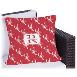 """Crawfish Outdoor Pillow - 16"""" (Personalized)"""