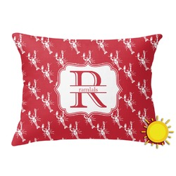 Crawfish Outdoor Throw Pillow (Rectangular) (Personalized)