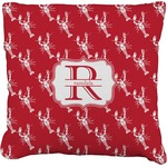 Crawfish Faux-Linen Throw Pillow (Personalized)