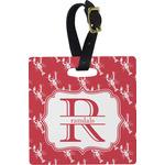 Crawfish Square Luggage Tag (Personalized)