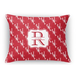 Crawfish Rectangular Throw Pillow Case (Personalized)