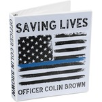 Blue Line Police 3-Ring Binder (Personalized)