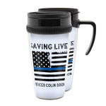 Blue Line Police Acrylic Travel Mugs (Personalized)