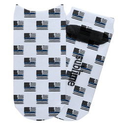 Blue Line Police Adult Ankle Socks (Personalized)
