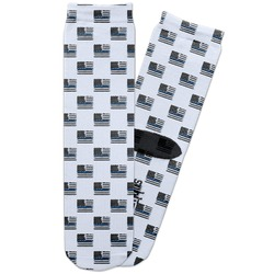 Blue Line Police Adult Crew Socks (Personalized)