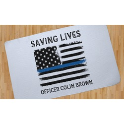 Blue Line Police Area Rug (Personalized)