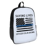 Blue Line Police Kids Backpack (Personalized)