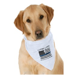 Blue Line Police Pet Bandanas (Personalized)