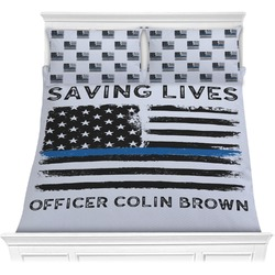 Blue Line Police Comforters (Personalized)