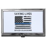 Blue Line Police Business Card Case