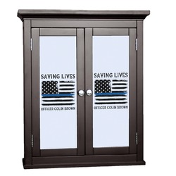Blue Line Police Cabinet Decal - Large (Personalized)