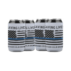 Blue Line Police Can Sleeve (12 oz) (Personalized)