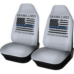 Blue Line Police Car Seat Covers (Set of Two) (Personalized)