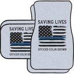 Blue Line Police Car Floor Mats (Personalized)