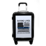 Blue Line Police Carry On Hard Shell Suitcase (Personalized)