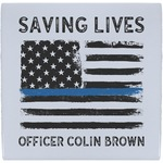 Blue Line Police Ceramic Tile Hot Pad (Personalized)