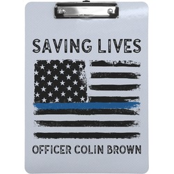 Blue Line Police Clipboard (Personalized)