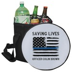 Blue Line Police Collapsible Cooler & Seat (Personalized)