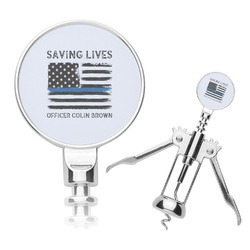 Blue Line Police Corkscrew (Personalized)